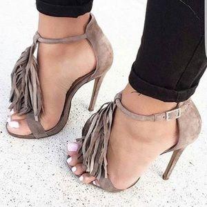 Mossimo Fringe High Heel Sandal size 6.5